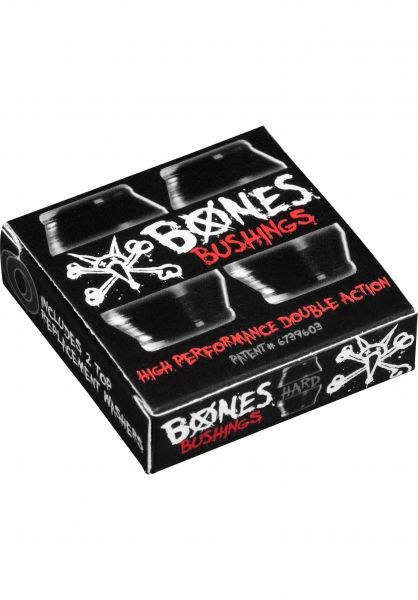 Bones Wheels Lenkgummis 96A Hardcore Hard Set Pack inkl. Washer black vorderansicht 0199190