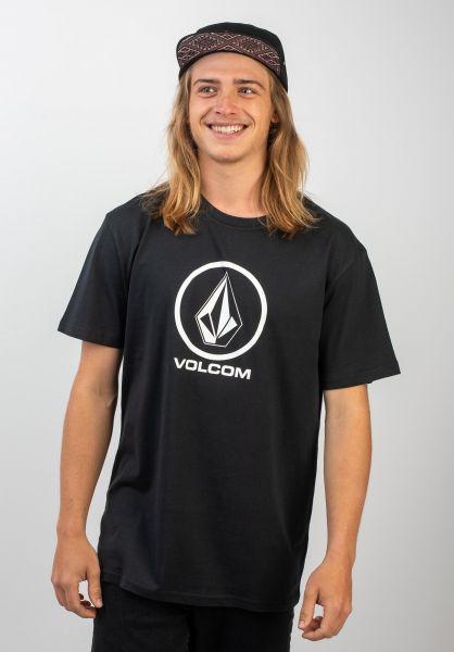 Volcom T-Shirts Crisp Stone black vorderansicht 0398046
