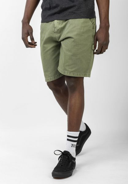 TITUS Jeansshorts Workpant Short oil-green vorderansicht 0278010