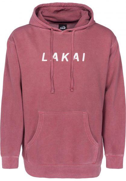 Lakai Hoodies Swift Pigment Dyed maroon Vorderansicht