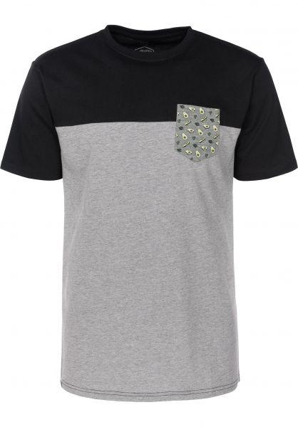 TITUS T-Shirts Avocado Pocket greymottled-black rueckenansicht 0397371