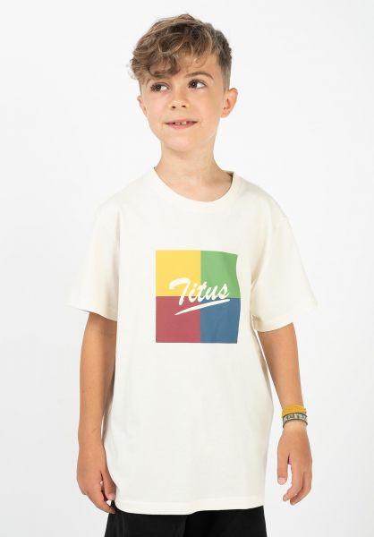 TITUS T-Shirts Makar Kids offwhite vorderansicht 0321828
