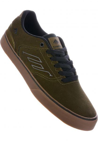 Emerica Alle Schuhe Reynolds Low Vulc olive-black-gum vorderansicht 0604638