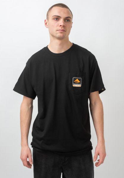 Emerica T-Shirts x Bronson Pocket black vorderansicht 0321497