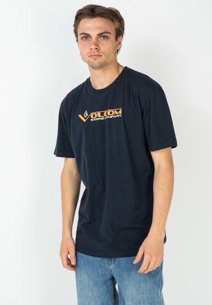 Volcom T-Shirts Vee-Stone LTW navy vorderansicht 0322528