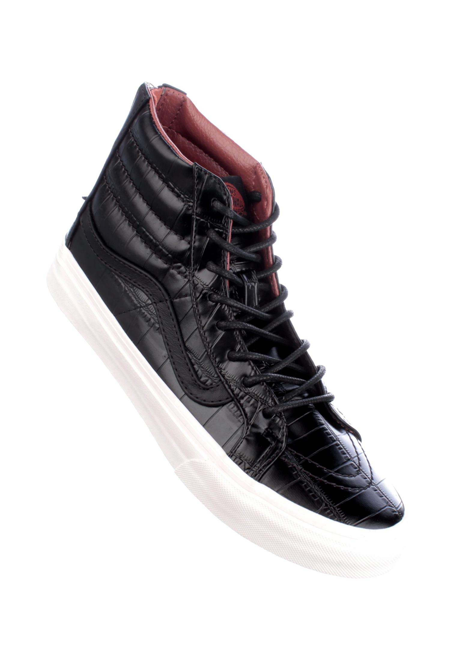 3331a9b60c SK8-Hi Slim Zip Vans All Shoes in croc-leather-black for Women