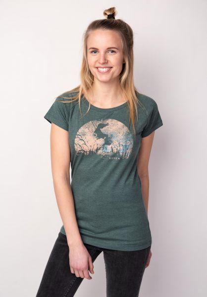 TITUS T-Shirts Swing petrolmottled vorderansicht 0396648