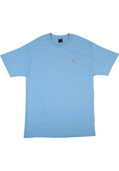 Pizza Skateboards T-Shirts Emoji carolina-blue vorderansicht 0399341