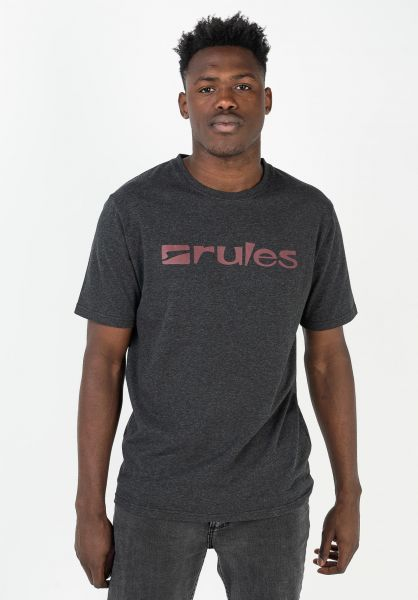 Rules T-Shirts Basic darkgreymottled-red vorderansicht 0365205