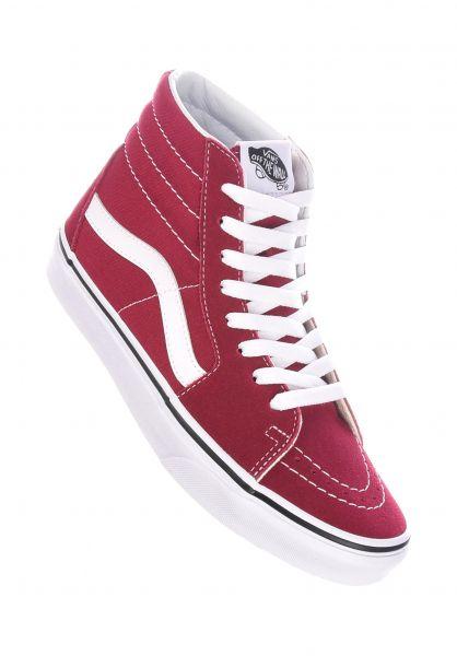 Vans Alle Schuhe Sk8-Hi rumbared-truewhite vorderansicht 0612300