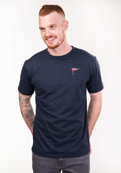 TITUS T-Shirts Ogur Backprint deepnavymottled vorderansicht 0397379