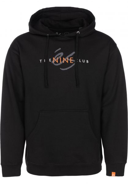 ES Hoodies x The Nine Club black vorderansicht 0445071