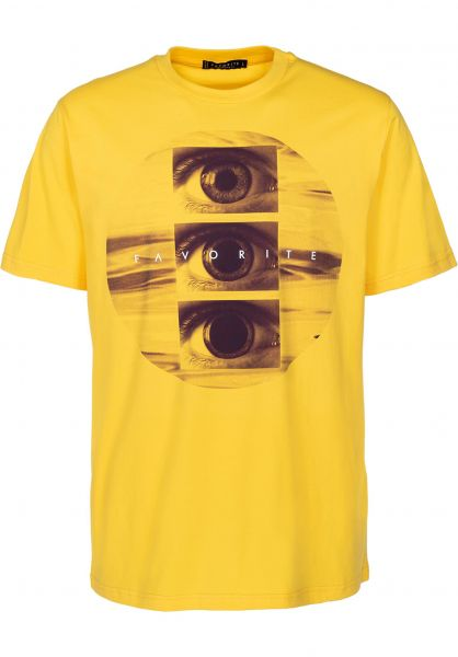 Favorite T-Shirts Tripping yellow vorderansicht 0399491