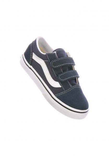 Vans Alle Schuhe Old Skool V Kids indiaink-truewhite vorderansicht 0226000