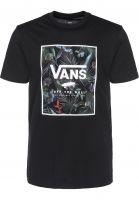 Vans T-Shirts Print Box black-neojungle Vorderansicht
