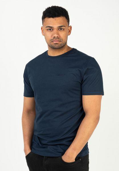 Mazine T-Shirts Burwood Pocket navy vorderansicht 0324068