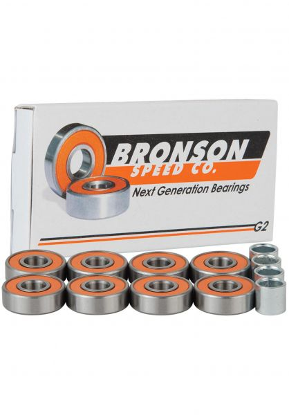 Bronson Speed Co. Kugellager G2 orange-silver vorderansicht 0180236