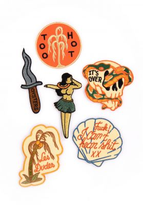 The Dudes Holidays Patch Set