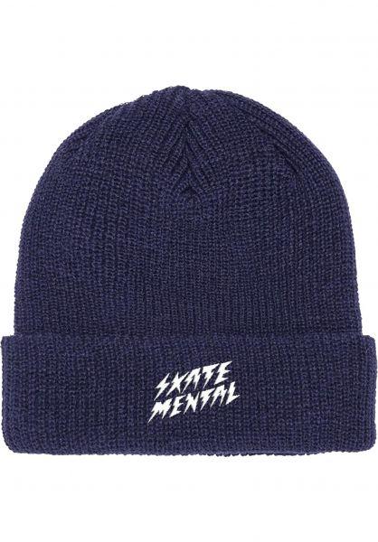 Skate-Mental Mützen Bolts navy vorderansicht 0572637