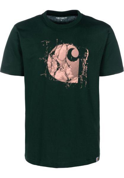 Carhartt WIP T-Shirts Broken Glass bottlegreen vorderansicht 0399696