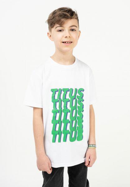 TITUS T-Shirts Tilt Kids white vorderansicht 0322074