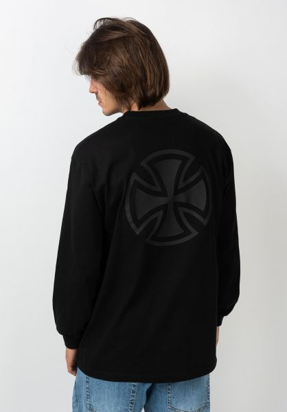 Independent Longsleeves Bar/Cross Fade Out L/S black vorderansicht 0383748