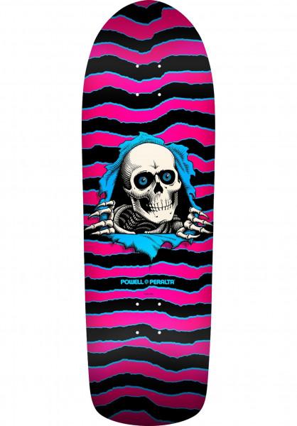 Powell-Peralta Skateboard Decks Oldschool Ripper pink-blue Vorderansicht