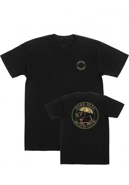 Dark Seas T-Shirts Beach Club Pigment Dyed black vorderansicht 0322742