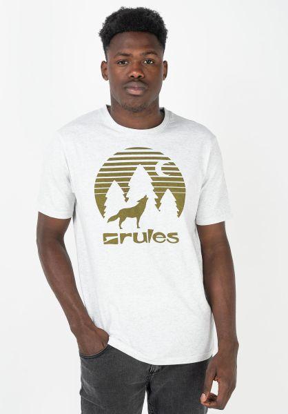 Rules T-Shirts Lone Wolf lightheathergrey-charcoal vorderansicht 0399282