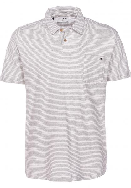 Billabong Polo-Shirts Standard Issue Polo eggshell vorderansicht 0138348