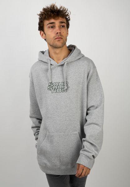 Sour Skateboards Hoodies Outliner heathergrey vorderansicht 0445429