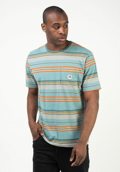 Brixton T-Shirts Hilt Alton Pocket Knit aquacloudwash vorderansicht 0323173