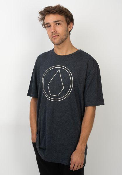 Volcom T-Shirts Pin Stone navy vorderansicht 0399848
