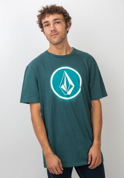Volcom T-Shirts Spray Stone mediterranean vorderansicht 0399678