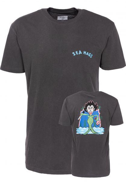 Altamont T-Shirts Sea Hag charcoal Vorderansicht