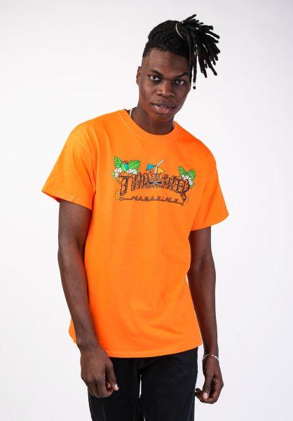 Thrasher T-Shirts Tiki safetyorange vorderansicht 0399725