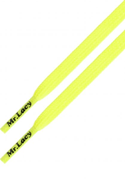 Mr. Lacy Schnürsenkel Goalies neon-lime-yellow vorderansicht 0640027