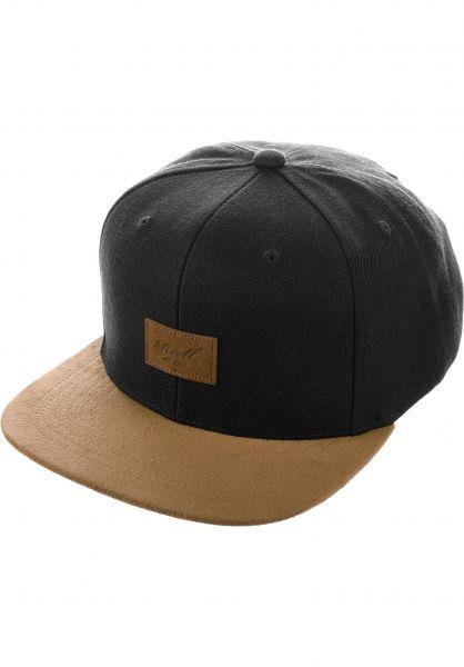 Reell Caps Suede Cap black vorderansicht 0563718