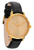 Nixon Uhren The Kensington Leather gold Vorderansicht