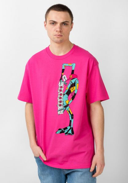 Powell-Peralta T-Shirts Ray Barbee Rag Doll hot-pink vorderansicht 0320227
