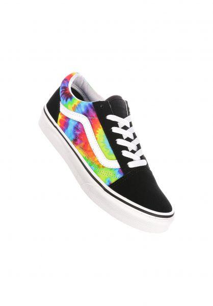 Vans Alle Schuhe Old Skool Kids multi-black-white vorderansicht 0216057
