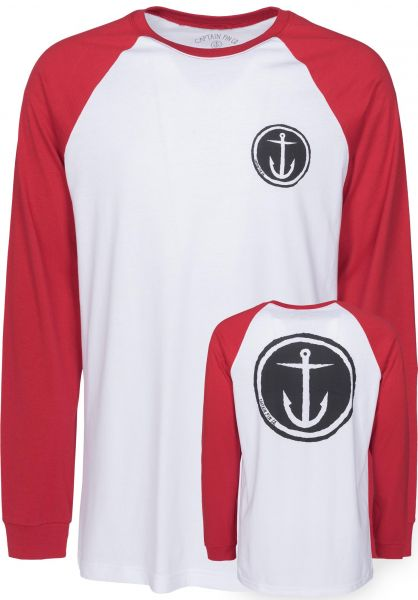 Captain Fin Longsleeves Tally Ho white-red Vorderansicht