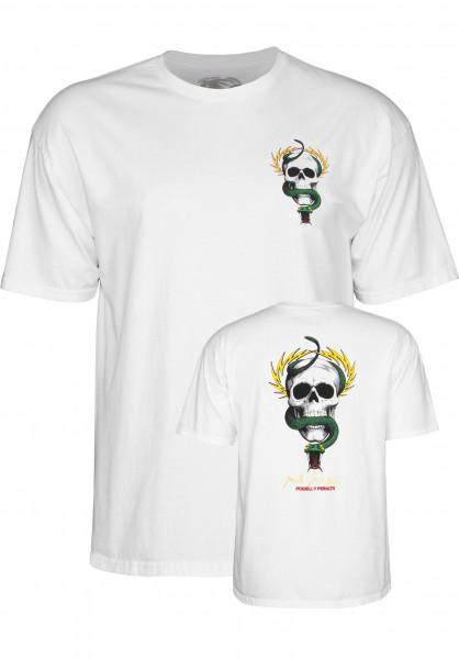 Powell-Peralta T-Shirts Mc Gill Skull & Snake white Vorderansicht