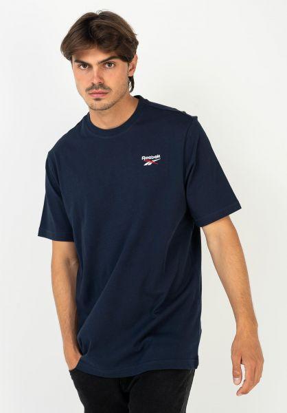 Reebok T-Shirts Small Vector navy vorderansicht 0321223