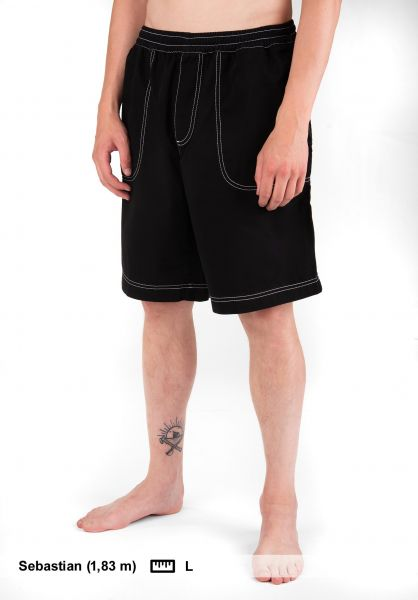Polar Skate Co Beachwear Swim Shorts black Vorderansicht