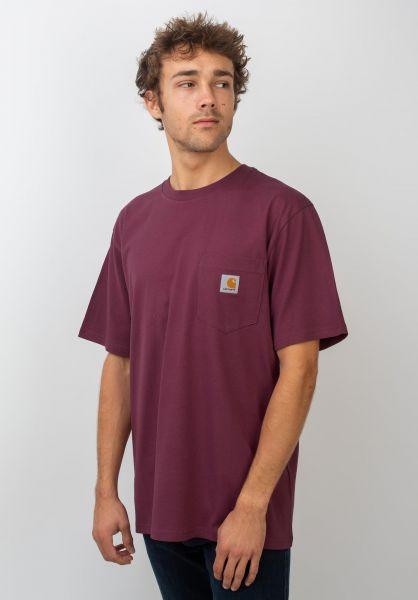 Carhartt WIP T-Shirts Pocket merlot vorderansicht 0393365