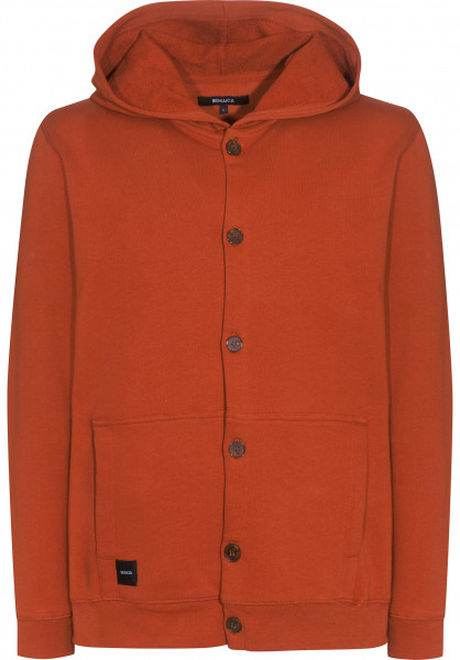 Makia Hoodies Button Up orange Vorderansicht