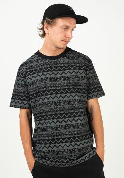 TITUS T-Shirts Ethno AO black-grey vorderansicht 0397501