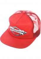 Thrasher Caps Diamond Emblem Trucker Hat red Vorderansicht
