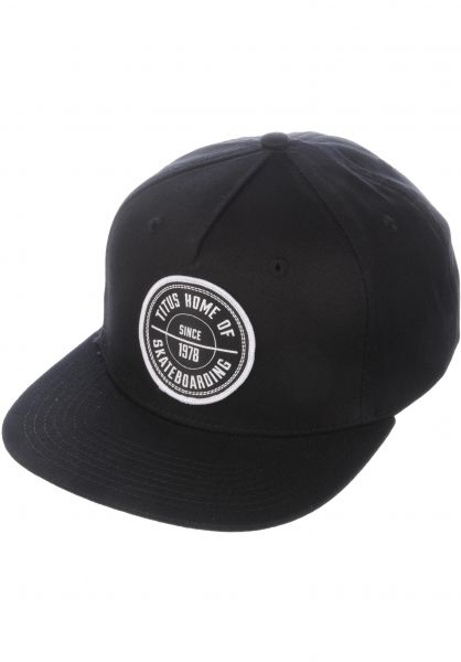 TITUS Caps Classic Patch Snapback black-black Vorderansicht